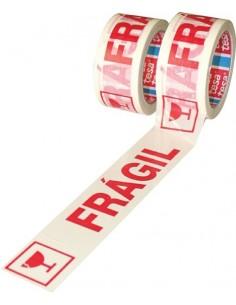 Cinta precinto fragil 60089-66mx50mm blanco de tesa-tape caja