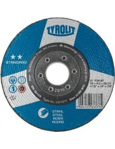 Disco 27x a24-bf 115x6x22,2 standard de tyrolit caja de 10