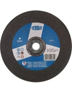 Disco 27c a30-bf 230x6x22,2 basic de tyrolit caja de 10 unidades