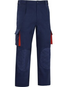 Pantalon tergal cargo prgm-33 marino/rojo t50 de vesin