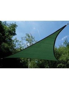Toldo vela triangular 9086 360x360x360 verde de jarbric