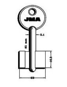 Llave jma gorja latón mcm-1g nik de j.m.a caja de 10 unidades
