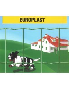 Malla electrosoldada plastificada europlast100x50 25x1,50m de