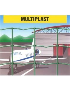 Malla electrosoldada plastificada multiplast 50x60x3,0 25x1,20m