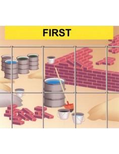 Malla electrosoldada galvanizada first 13x13x1,4 25x1,50m de