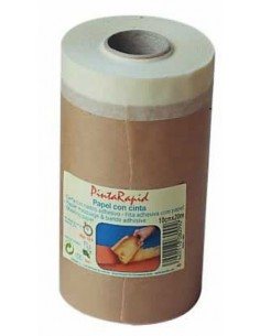 Papel con cinta pintarapid 08102 45cmx20m de pentrilo
