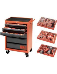 Conjunto carro taller herramientas 170860/2 + bandejas de hr