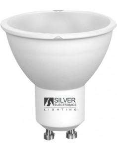 Lampara eco 1440 multi-led gu10 7w 3000k de silver sanz caja de