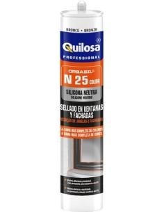 Silicona orbasil n-25 neutra vde ral6009 de quilosa caja de 24