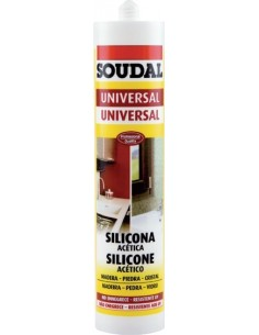Silicona universal acida 280ml-103184 blanco de soudal caja de