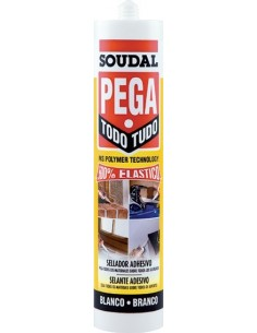 Polimero pegatodo 290ml-122826 marron de soudal caja de 12