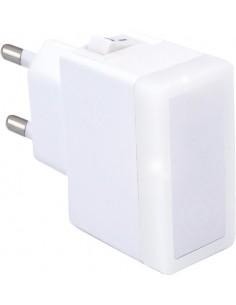 Luz noche led blanca 0,4w 230v con interruptor de marca caja de