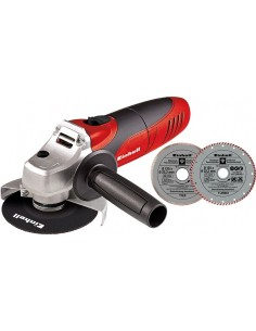 Amoladora mini tc-ag125kit 125mm 850w + accesorios de einhell